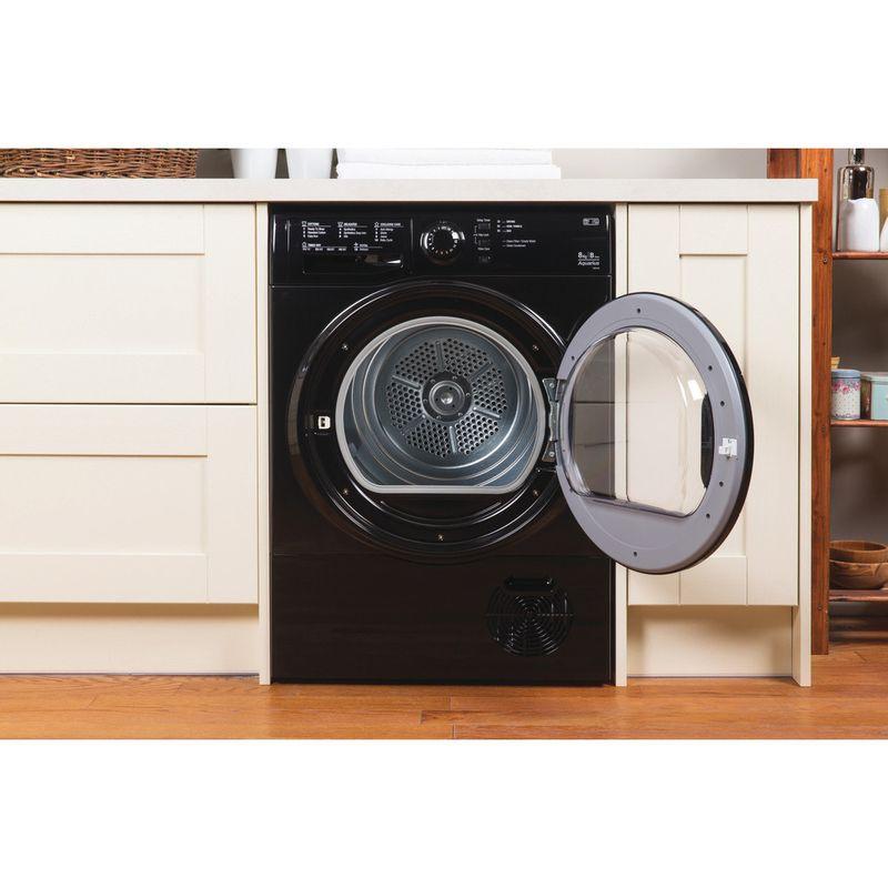 Hotpoint-Dryer-TCFS-83B-GK--UK--Black-Lifestyle_Frontal_Open