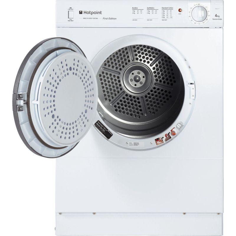 Hotpoint-Dryer-V4D-01-P--UK--White-Frontal-open