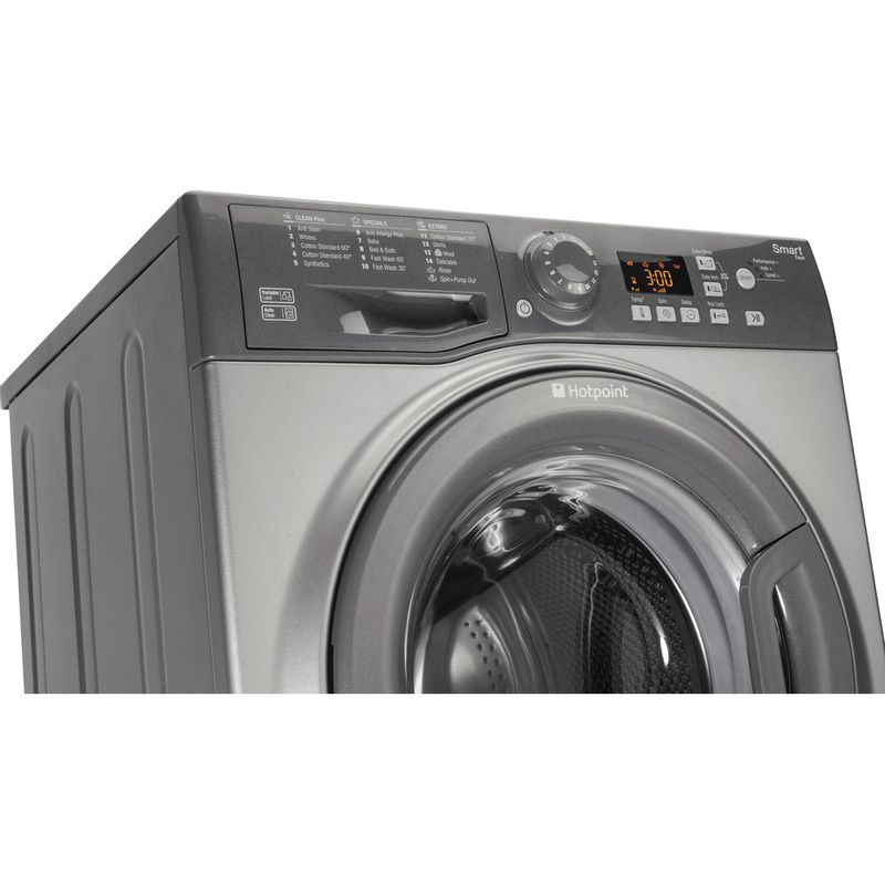 Hotpoint-Washing-machine-Free-standing-WMFUG-742G-UK-Graphite-Front-loader-A---Perspective