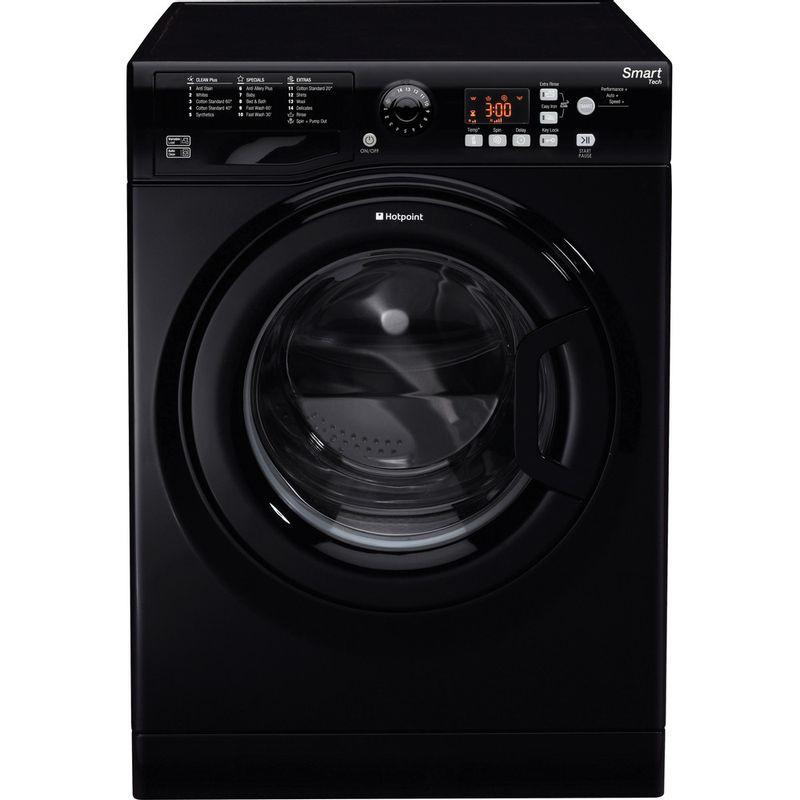 Hotpoint-Washing-machine-Free-standing-WMFUG-842K-UK-Black-Front-loader-A---Frontal