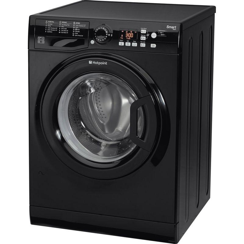 Hotpoint-Washing-machine-Free-standing-WMFUG-842K-UK-Black-Front-loader-A---Perspective