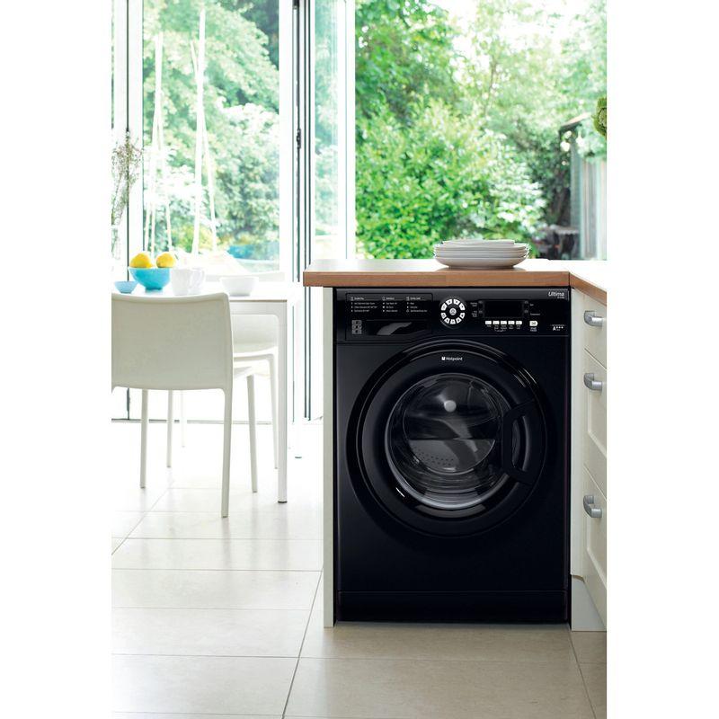 Hotpoint-Washing-machine-Free-standing-WMFUG-842K-UK-Black-Front-loader-A---Lifestyle_Frontal
