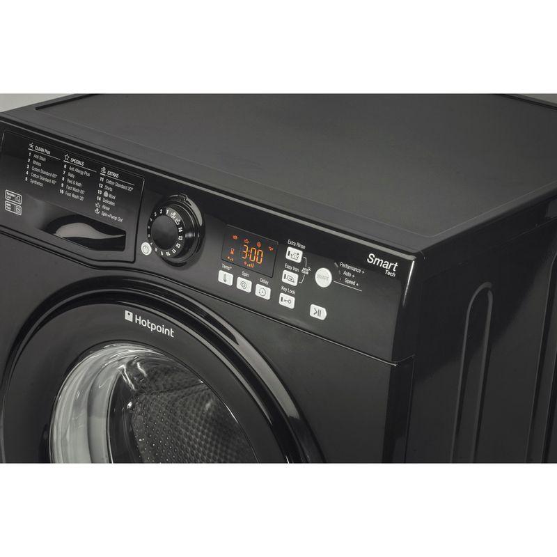 Hotpoint-Washing-machine-Free-standing-WMFUG-842K-UK-Black-Front-loader-A---Control_Panel