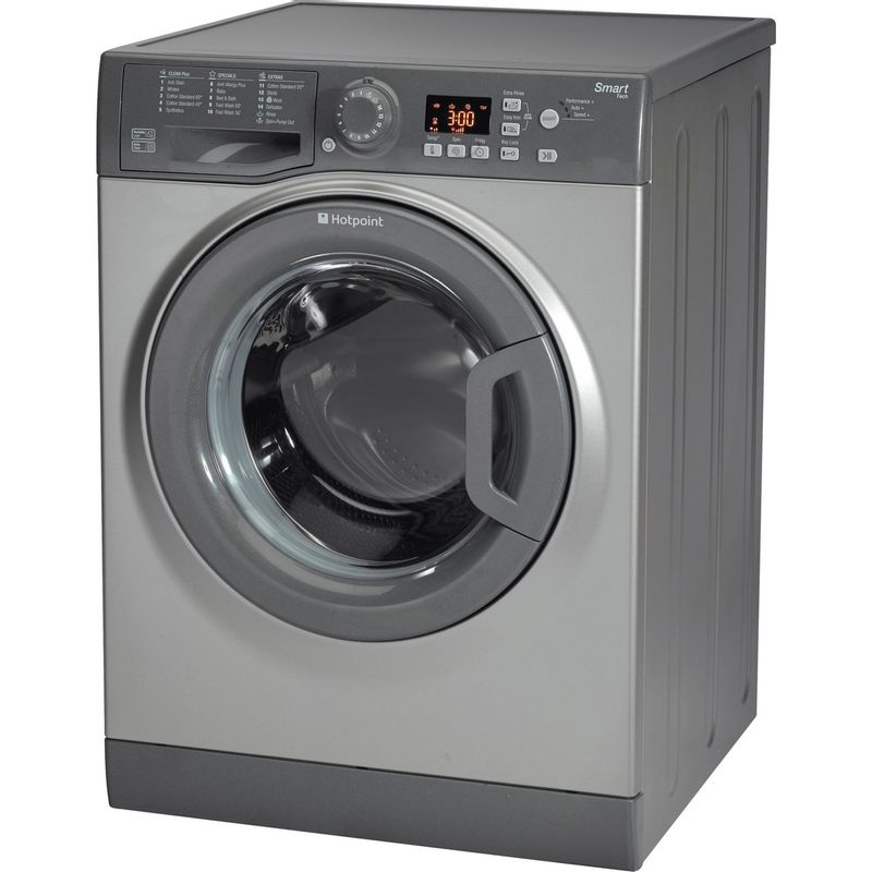 Hotpoint-Washing-machine-Free-standing-WMFUG-942G-UK-Graphite-Front-loader-A---Perspective