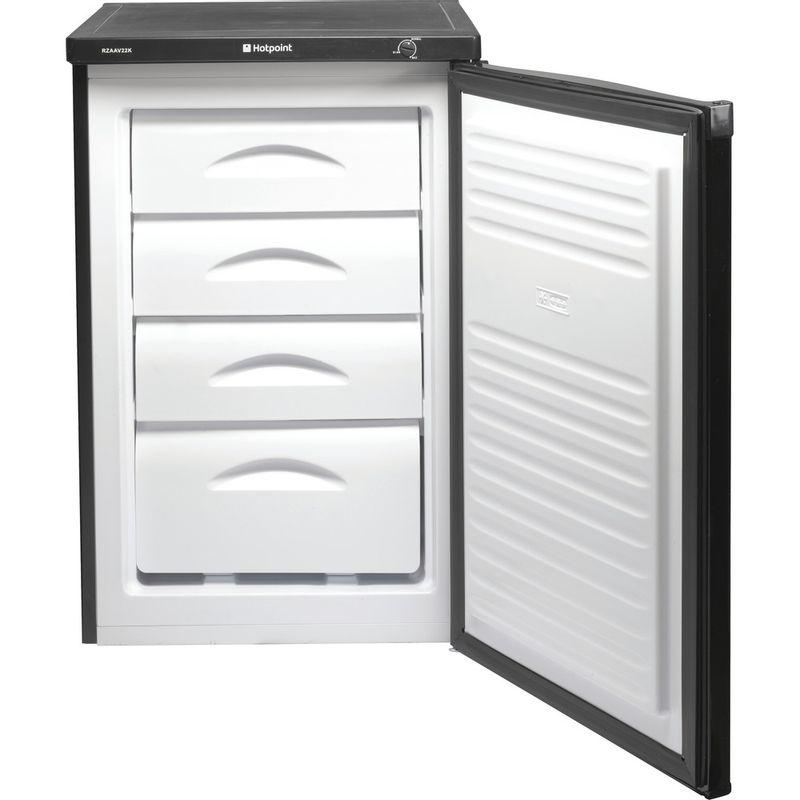 Hotpoint-Freezer-Free-standing-RZAAV22K.1-Black-Frontal-open