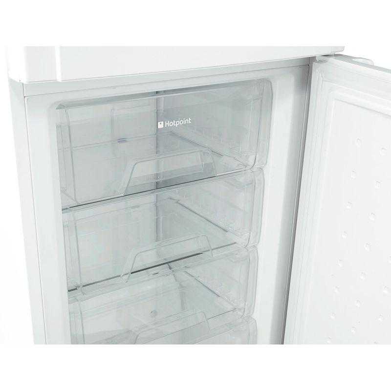 Hotpoint-Fridge-Freezer-Free-standing-FSFL58W-White-2-doors-Drawer