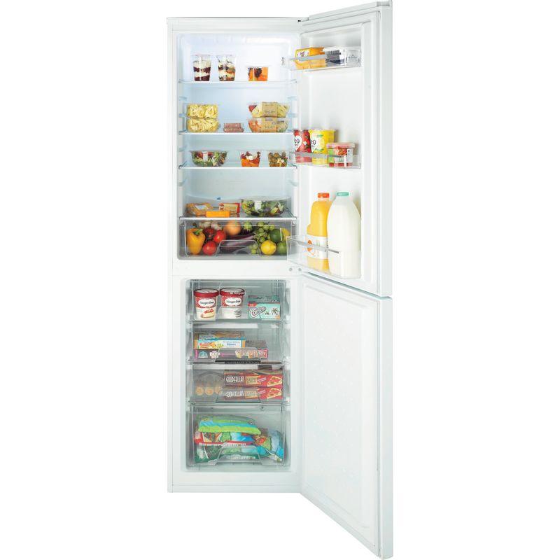 Hotpoint-Fridge-Freezer-Free-standing-FSFL58W-White-2-doors-Frontal_Open