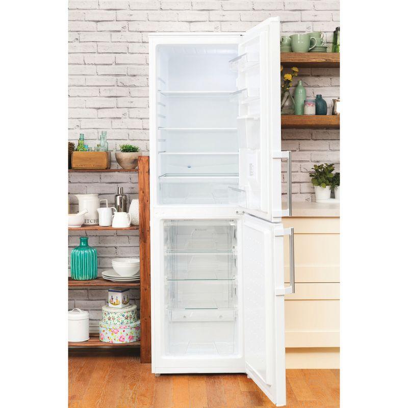 Hotpoint-Fridge-Freezer-Free-standing-FFLAA58WDW-White-2-doors-Lifestyle_Frontal_Open