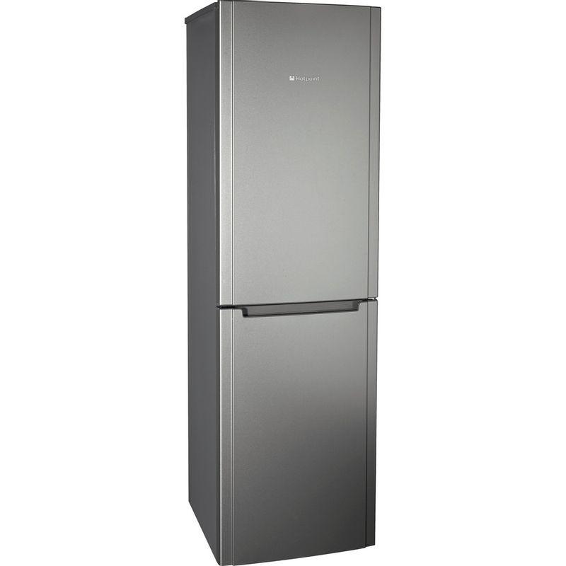 Hotpoint-Fridge-Freezer-Free-standing-FSFL58G-Graphite-2-doors-Perspective
