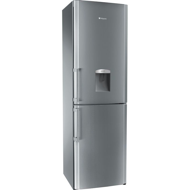Hotpoint-Fridge-Freezer-Free-standing-FFLAA58WDG-Graphite-2-doors-Perspective