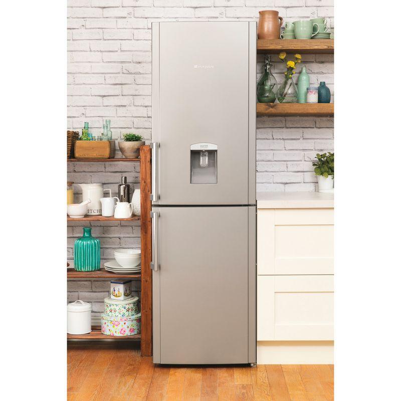 Hotpoint-Fridge-Freezer-Free-standing-FFLAA58WDG-Graphite-2-doors-Lifestyle_Frontal_Open
