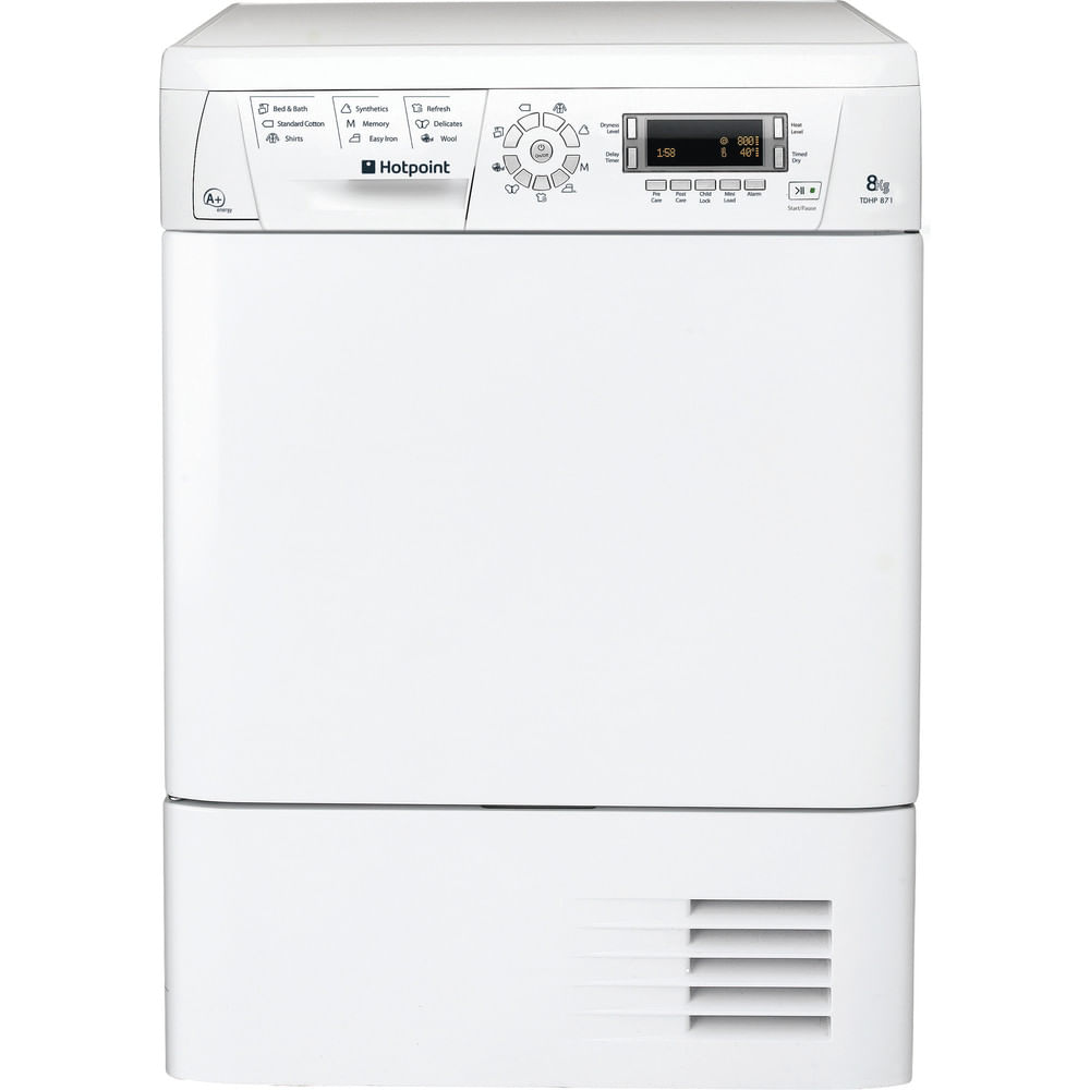 Hotpoint Freestanding tumble dryer TDHP 871 RP (UK) : discover the specifications of our home appliances and bring the innovation into your house and family.