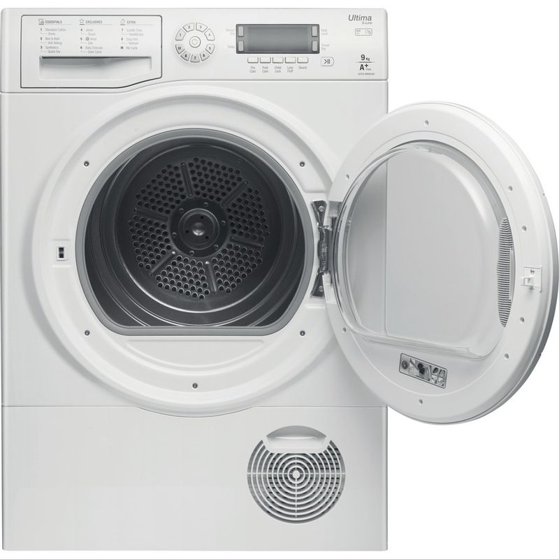 Hotpoint-Dryer-SUTCD-GREEN-9A1--UK--White-Frontal_Open