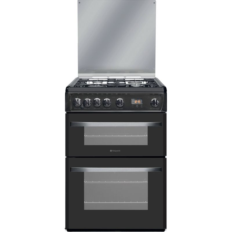 Hotpoint-Double-Cooker-DSG60GM-Silver-black-A--Enamelled-Sheetmetal-Frontal