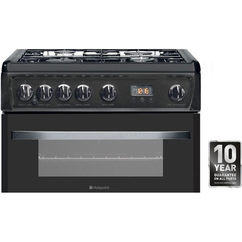 Hotpoint-Double-Cooker-DSG60GM-Silver-black-A--Enamelled-Sheetmetal-Award