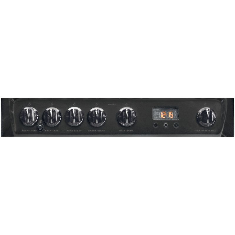 Hotpoint-Double-Cooker-DSG60GM-Silver-black-A--Enamelled-Sheetmetal-Control_Panel