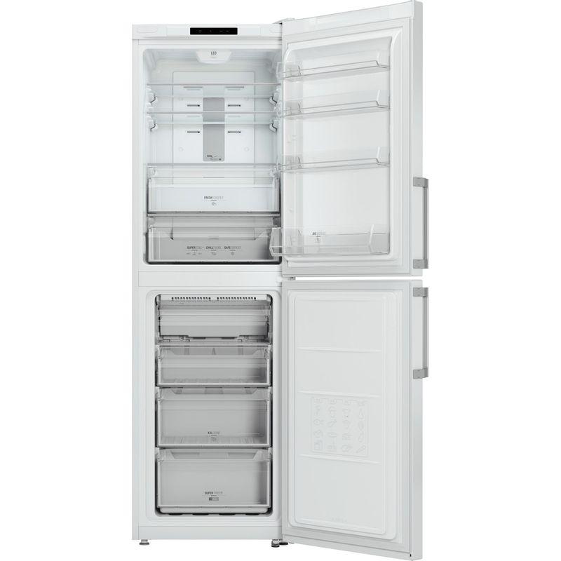 Hotpoint-Fridge-Freezer-Free-standing-XECO85-T2I-WH-White-2-doors-Frontal-open
