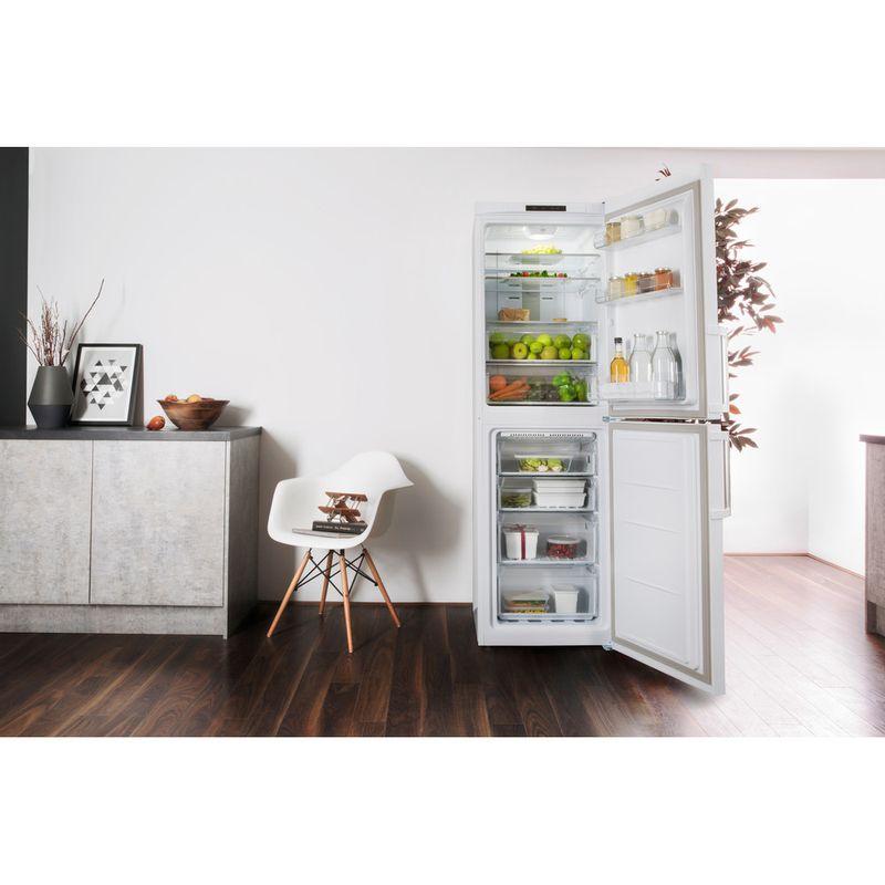 Hotpoint-Fridge-Freezer-Free-standing-XECO85-T2I-WH-White-2-doors-Lifestyle-frontal-open