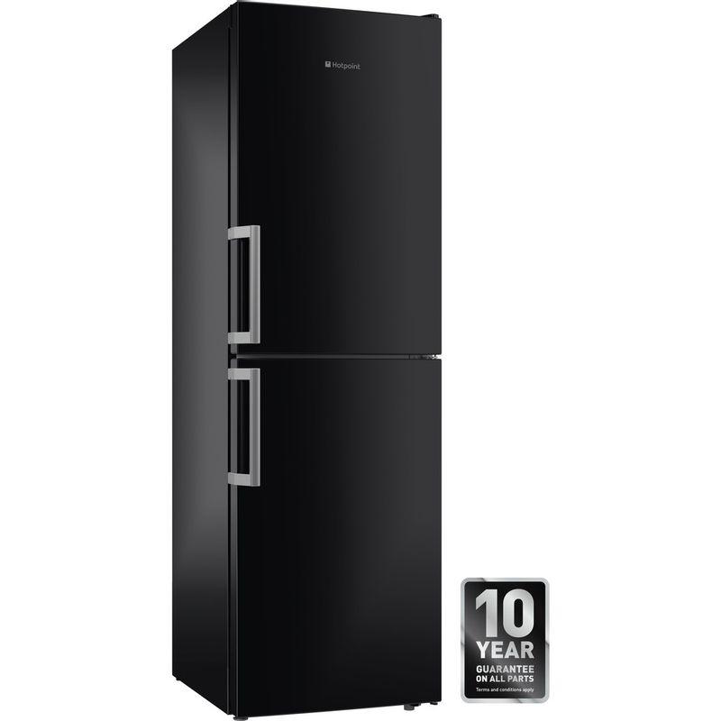 Hotpoint-Fridge-Freezer-Free-standing-XECO85-T2I-KH-Black-2-doors-Perspective