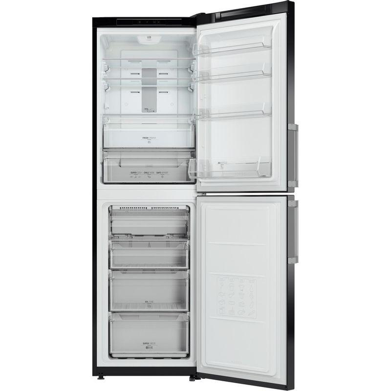 Hotpoint-Fridge-Freezer-Free-standing-XECO85-T2I-KH-Black-2-doors-Frontal_Open
