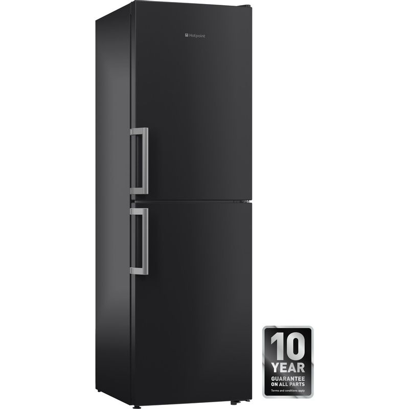 Hotpoint-Fridge-Freezer-Free-standing-XECO85-T2I-GH-Graphite-2-doors-Perspective