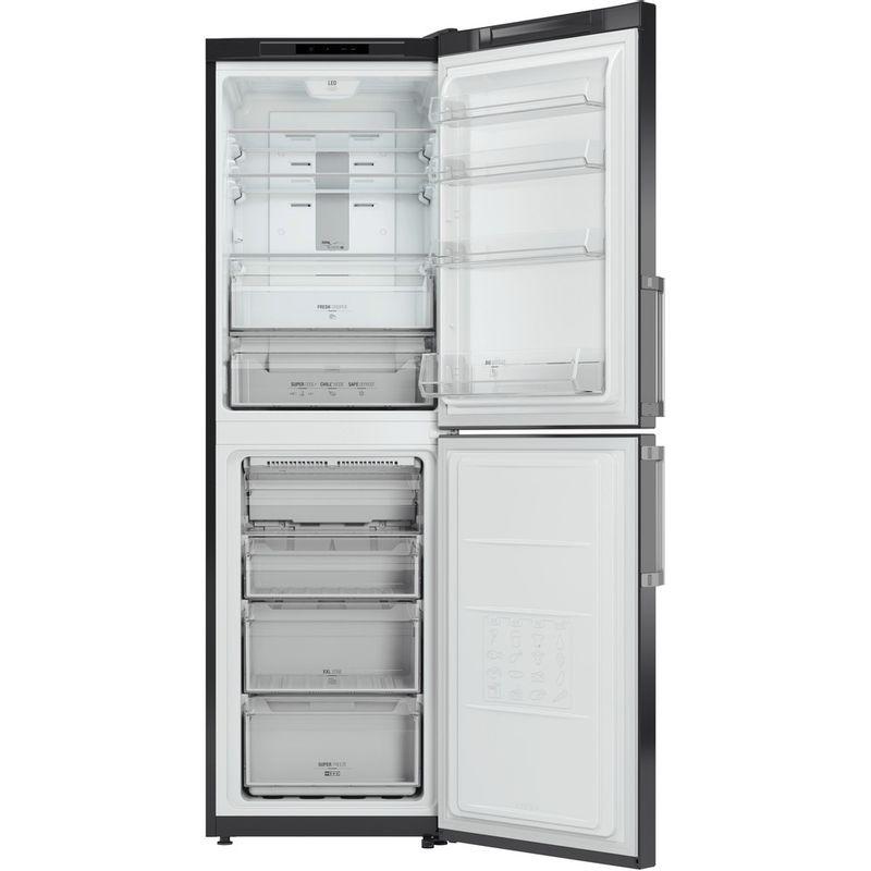 Hotpoint-Fridge-Freezer-Free-standing-XECO85-T2I-GH-Graphite-2-doors-Frontal_Open