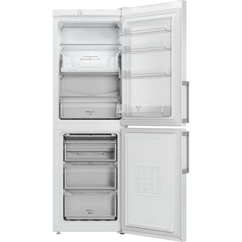 Hotpoint-Fridge-Freezer-Free-standing-LECO7-FF2-WH-White-2-doors-Frontal_Open