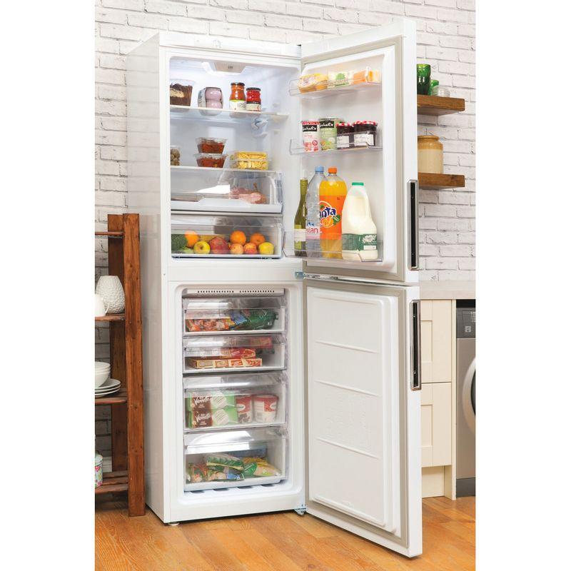 Hotpoint-Fridge-Freezer-Free-standing-LEX85-N1-W-White-2-doors-Lifestyle-perspective-open