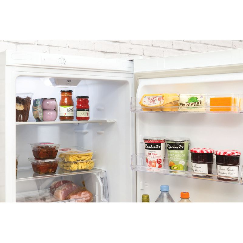 Hotpoint-Fridge-Freezer-Free-standing-LEX85-N1-W-White-2-doors-Lifestyle-detail