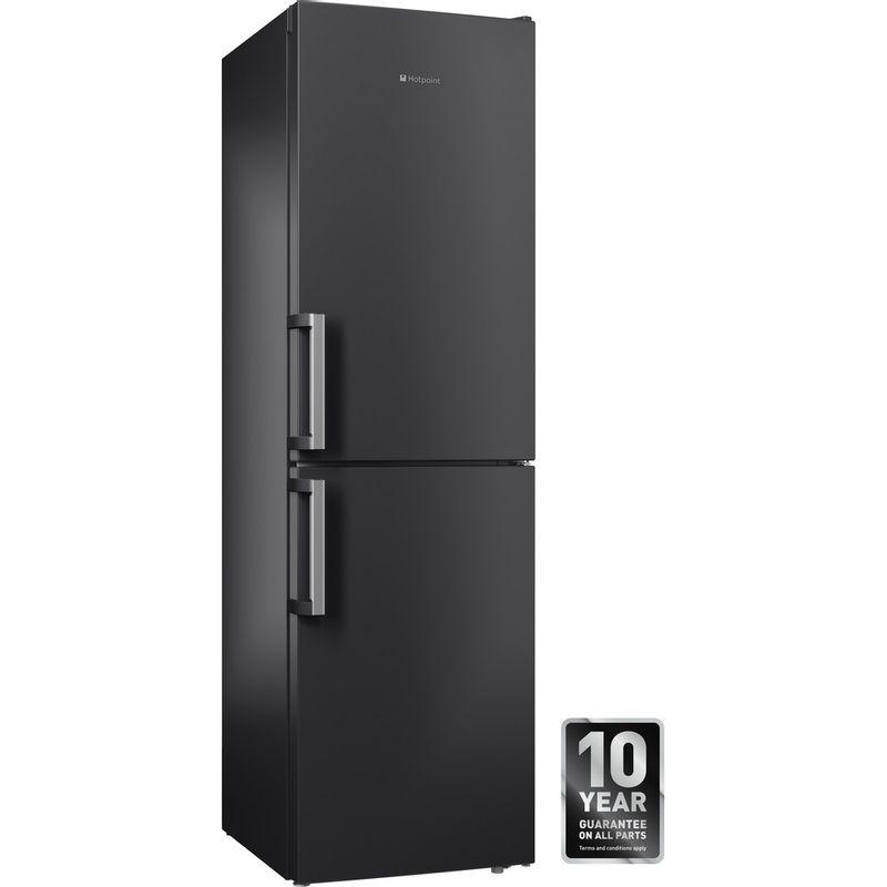 Hotpoint-Fridge-Freezer-Free-standing-XAG95-T1I-GH-Graphite-2-doors-Perspective