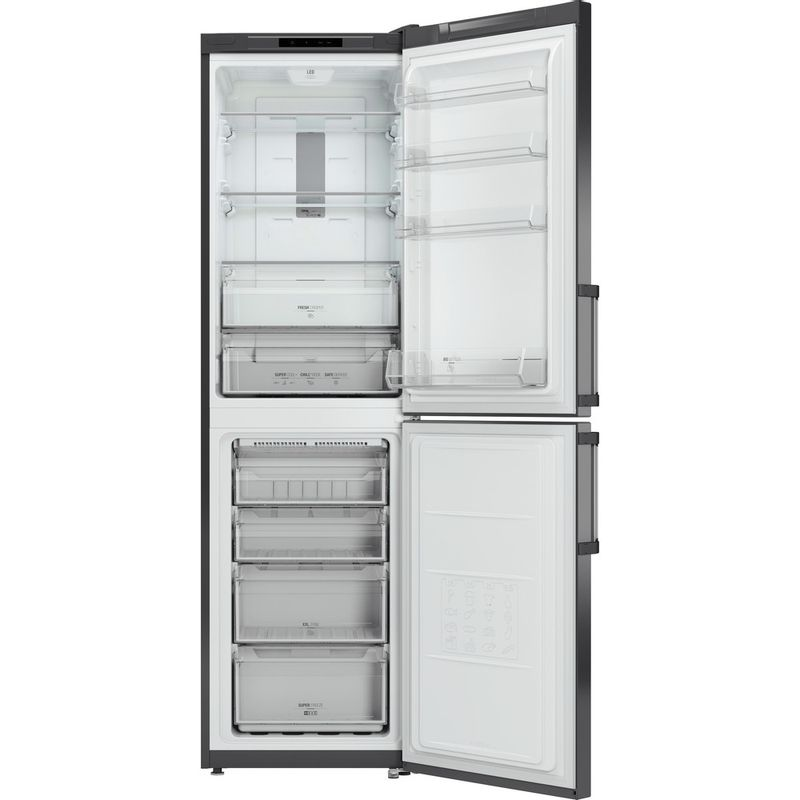 Hotpoint-Fridge-Freezer-Free-standing-XAG95-T1I-GH-Graphite-2-doors-Frontal-open