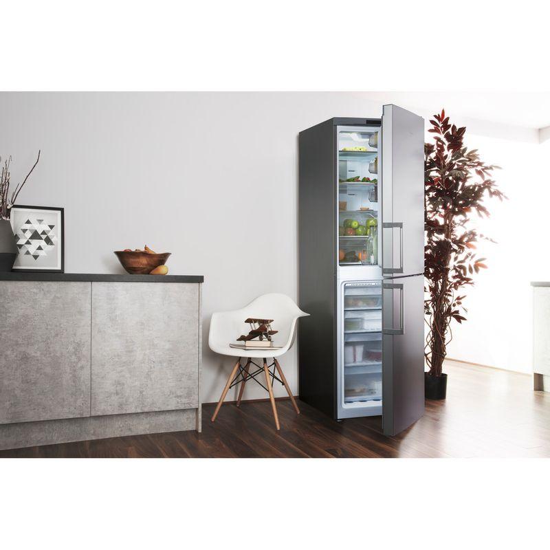 Hotpoint-Fridge-Freezer-Free-standing-XAG95-T1I-GH-Graphite-2-doors-Lifestyle-perspective-open