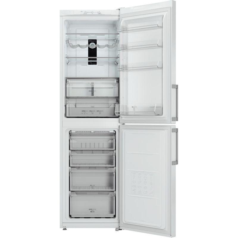 Hotpoint-Fridge-Freezer-Free-standing-XAL95-T1U-WOJH-White-2-doors-Frontal-open