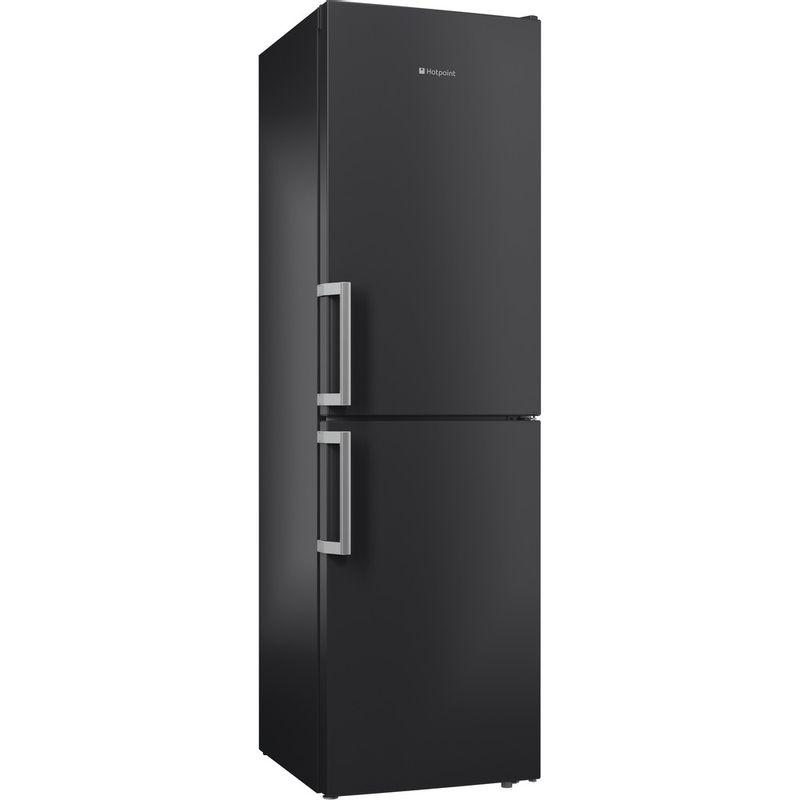 Hotpoint-Fridge-Freezer-Free-standing-XECO95-T2I-GH-Graphite-2-doors-Perspective