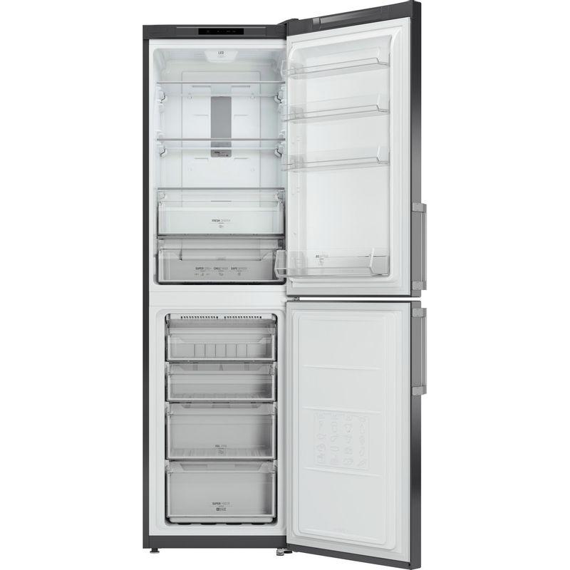 Hotpoint-Fridge-Freezer-Free-standing-XECO95-T2I-GH-Graphite-2-doors-Frontal_Open
