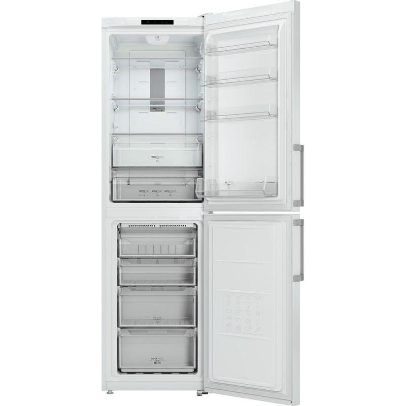 Hotpoint-Fridge-Freezer-Free-standing-XECO95-T2I-WH-White-2-doors-Frontal_Open