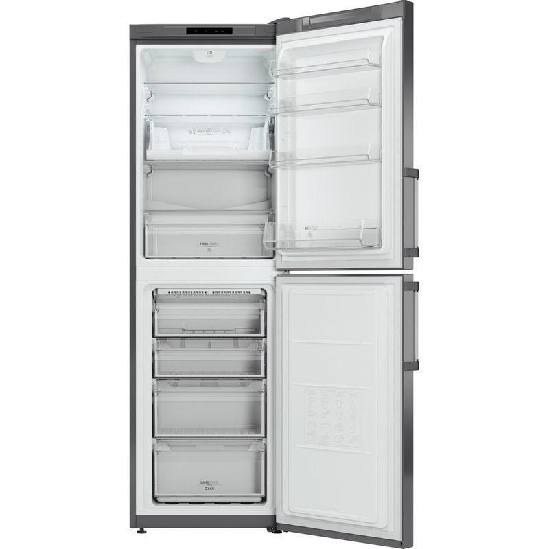 Hotpoint-Fridge-Freezer-Free-standing-LAG85-N1I-GH-Graphite-2-doors-Frontal-open