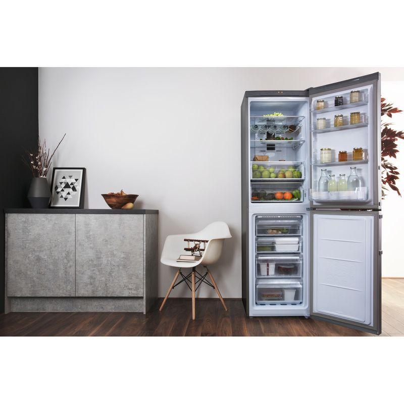 Hotpoint-Fridge-Freezer-Free-standing-XAO95-T2U-GOH-Graphite-2-doors-Lifestyle-frontal-open