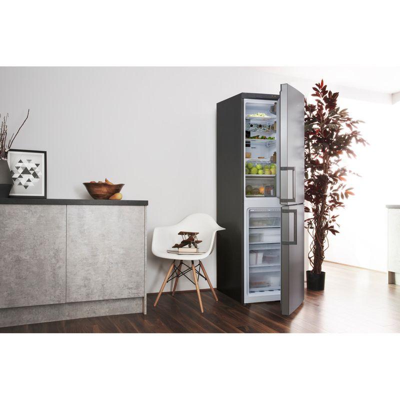 Hotpoint-Fridge-Freezer-Free-standing-XAO95-T2U-GOH-Graphite-2-doors-Lifestyle-perspective-open
