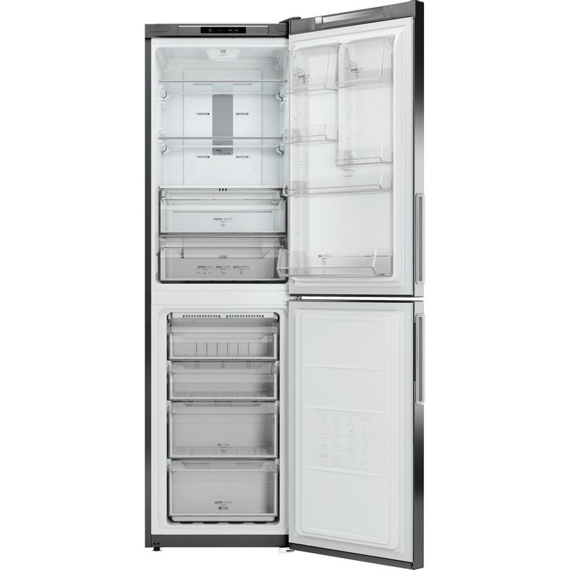 Hotpoint-Fridge-Freezer-Free-standing-XEX95-T1I-GZ-Graphite-2-doors-Frontal-open