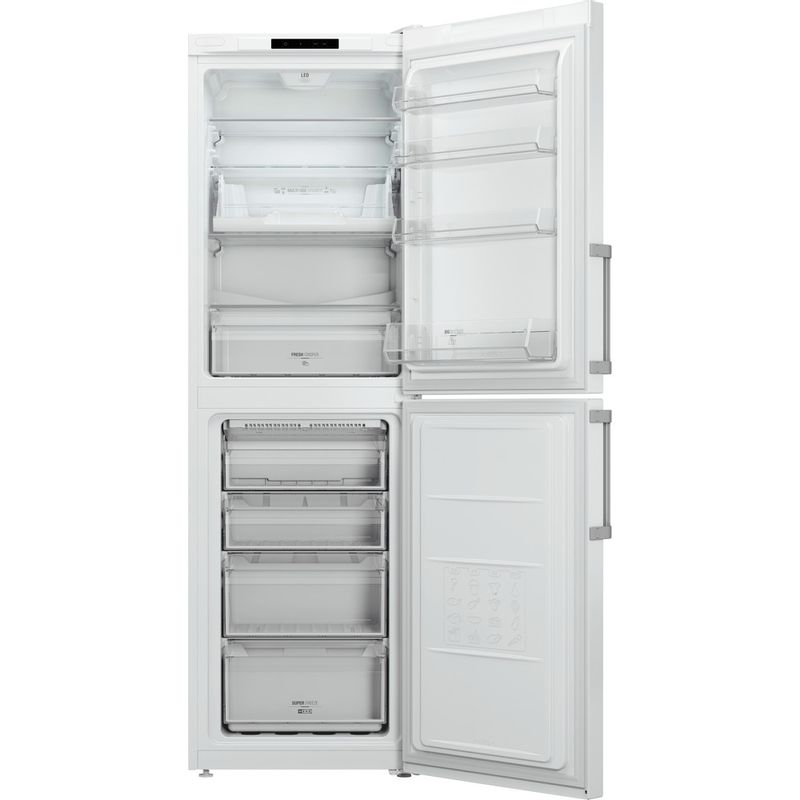 Hotpoint-Fridge-Freezer-Free-standing-LAG85-N1I-WH-White-2-doors-Frontal_Open