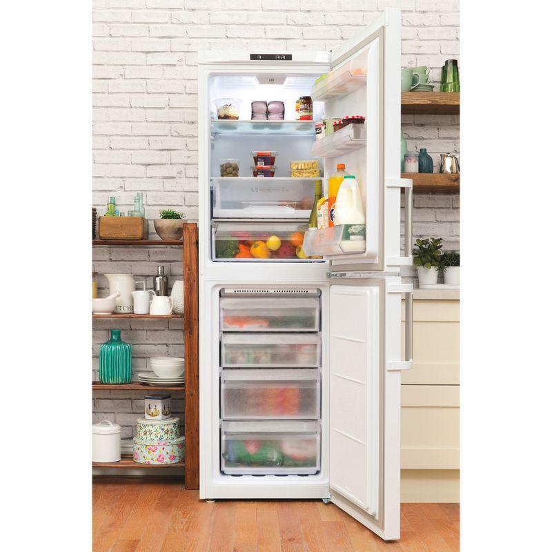 Hotpoint-Fridge-Freezer-Free-standing-LAG85-N1I-WH-White-2-doors-Lifestyle_Frontal_Open