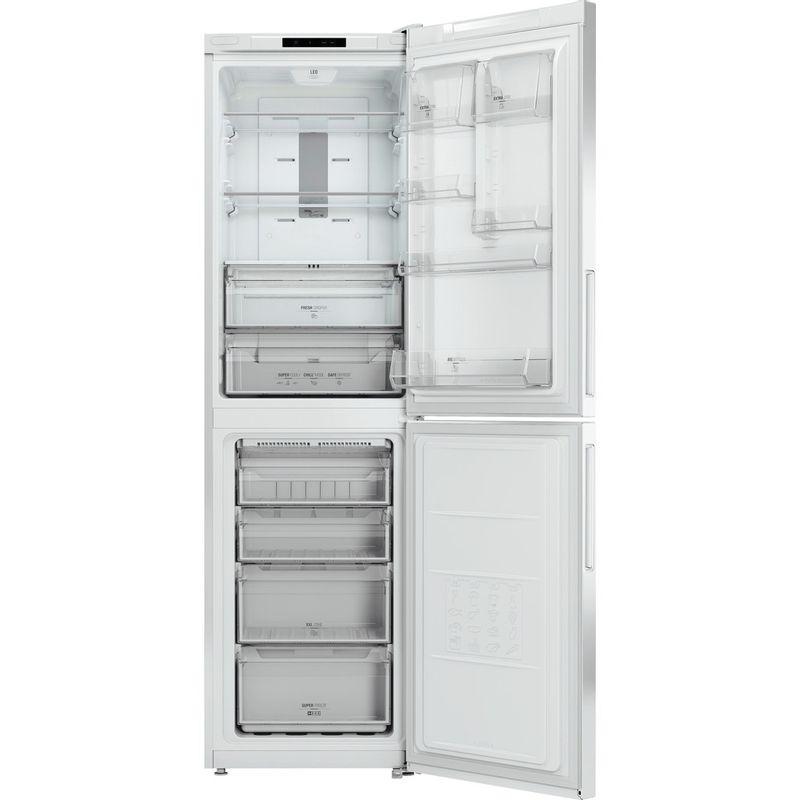 Hotpoint-Fridge-Freezer-Free-standing-XEX95-T1I-WZ-White-2-doors-Frontal-open