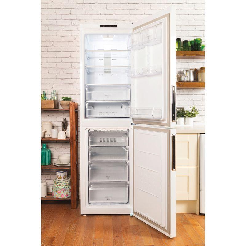 Hotpoint-Fridge-Freezer-Free-standing-XEX95-T1I-WZ-White-2-doors-Lifestyle-frontal-open