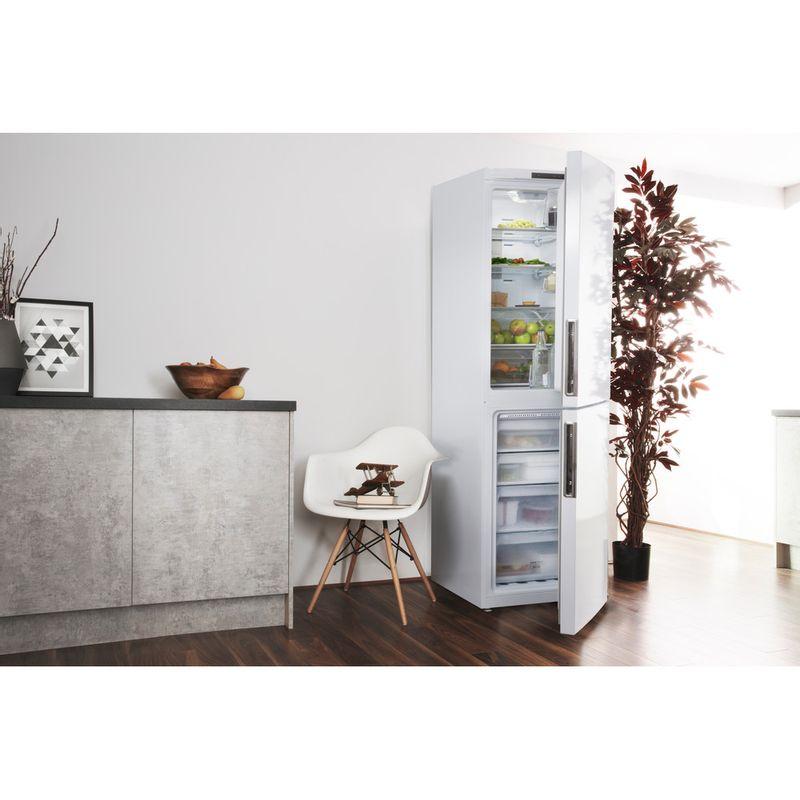 Hotpoint-Fridge-Freezer-Free-standing-XEX95-T1I-WZ-White-2-doors-Lifestyle-perspective-open
