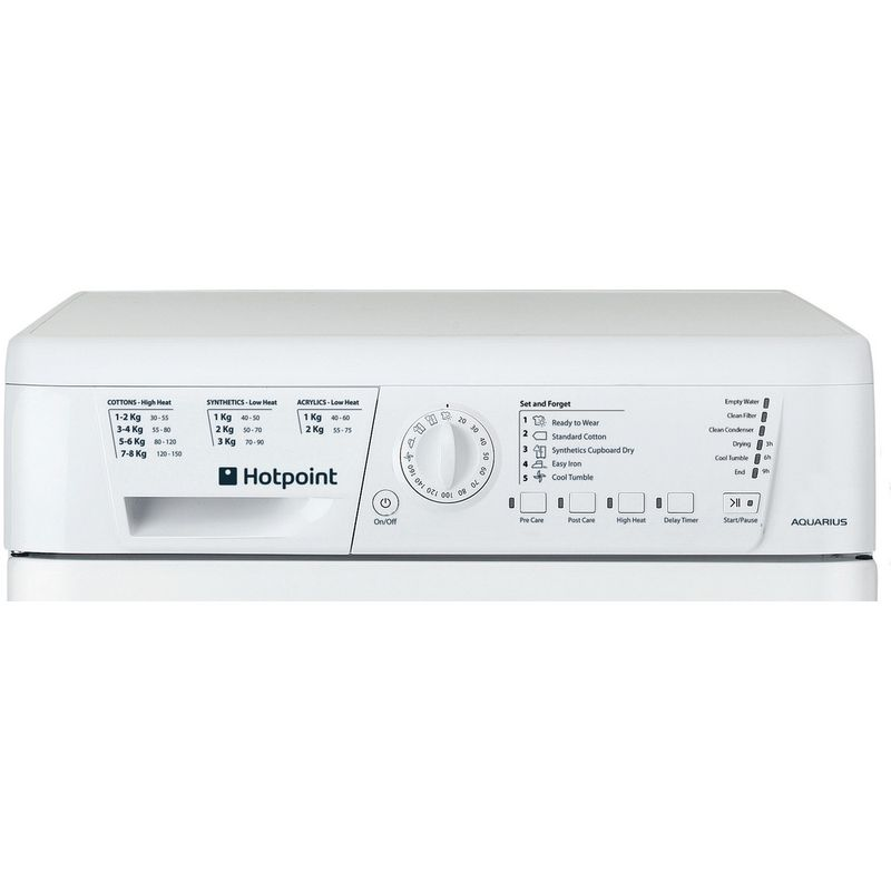 Hotpoint-Dryer-TCHL-73B-RP--UK--White-Control-panel