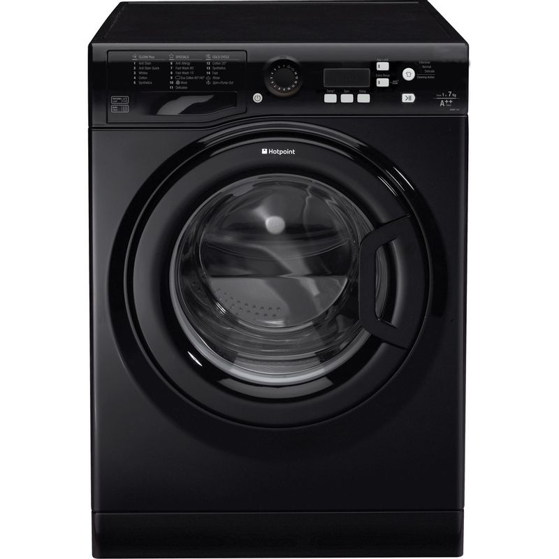 Hotpoint-Washing-machine-Free-standing-WMBF-742K-UK-Black-Front-loader-A---Frontal