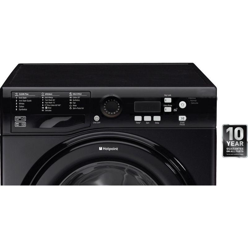 Hotpoint-Washing-machine-Free-standing-WMBF-742K-UK-Black-Front-loader-A---Control_Panel