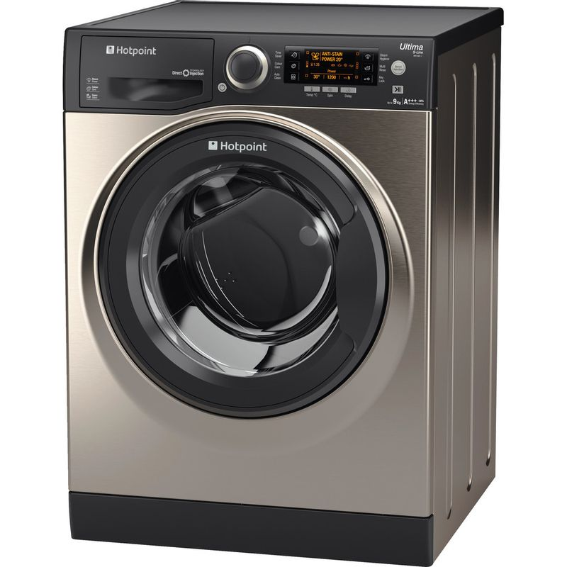 Hotpoint-Washing-machine-Free-standing-RPD-9467-JGG-UK-Graphite-Front-loader-A----Perspective