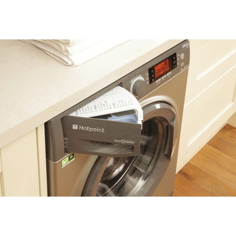 Hotpoint-Washing-machine-Free-standing-RPD-9467-JGG-UK-Graphite-Front-loader-A----Drawer